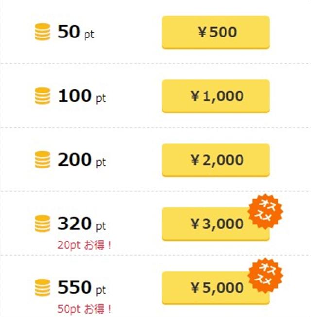 PCMAX支払い方法ポイント料金
